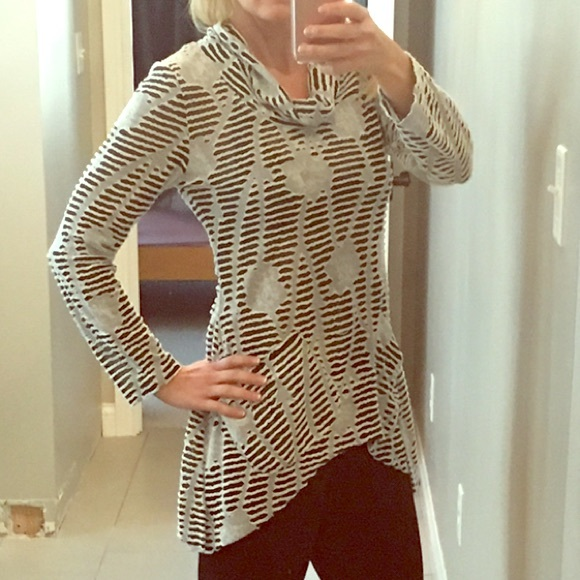 Pleats Collection Tops - Pleats Collection a-symmetric tunic SOLD