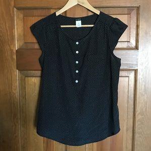J. Crew Factory black and white dot blouse. XS.