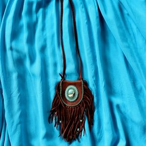 Jewelry - Medicine Pouch Necklace, Deerskin With Beadwork