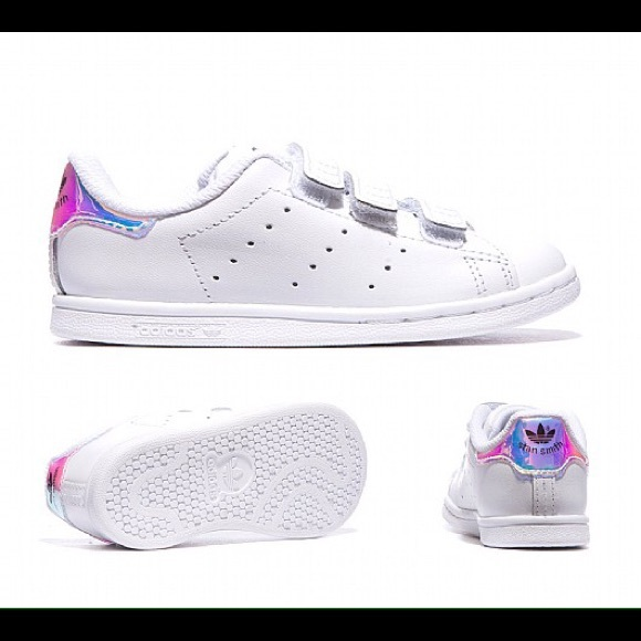 Adidas stan smith hologram velcro sneakers