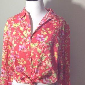 JONES NY Signature Floral ShirtSize XL