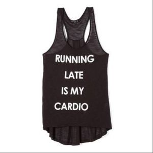 Tops - 💞HOST PICK💞Running late is my cardio muscle tank