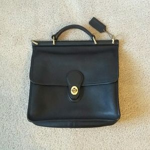Authentic Coach Leather Willis Bag