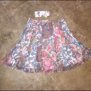 Show Me Your MuMu Dresses & Skirts - NEW Mumu Skater Skirt Mini Floral Pastels