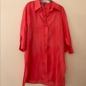 Escada Tops - Escada Sport 100% Silk Button Down Shirt