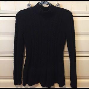 Ralph Lauren 🖤 Black Peplum Wool Blend Sweater