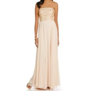 Xscape Dresses & Skirts - NWT Cream Beaded Evening Gown (offers accepted!)