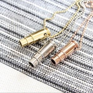 SALE | Silver Fighting Hunger Bullet Necklace