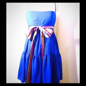 RED Valentino Dresses & Skirts - NWT red Valentino blue bow waist dress