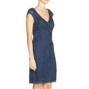 Sue Wong Navy Beaded Dress