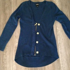 Nixon Sweaters - Women's navy Nixon cardigan with gold details M