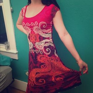 Red hot deal on a red hot Desigual dress!