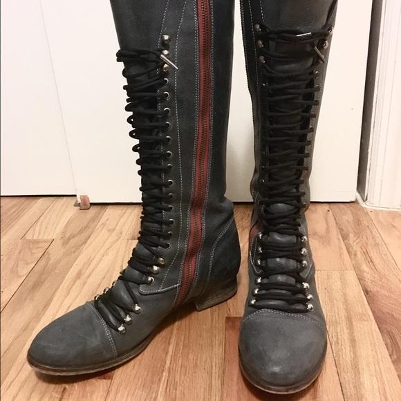 pizarra Apuesta Recitar  Steve Madden Shoes | Steve Madden Perrin Lace Up Tall Combat Boot Sz |  Poshmark