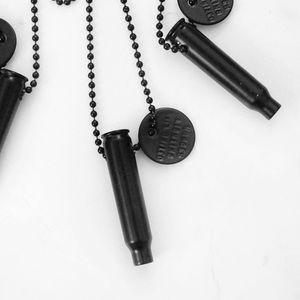 Matte Black Bullet Necklace