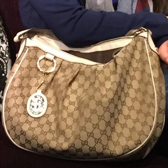 dfc0bb49d39 Gucci Handbags - Gucci Beige Ebony