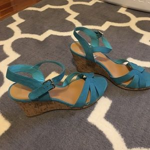 DV by Dolce Vita Shoes - Never worn Teal wedges