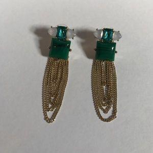 BaubleBar drop chain earrings