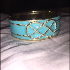 Cute teal and gold cuff!