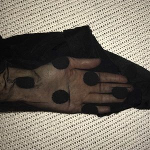 Accessories - Black Large Polka Dot Tights S