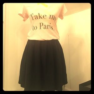 Aritzia Talula Elastic Waist Pleated Skirt