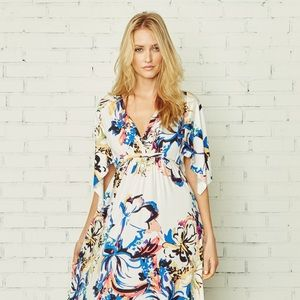 NEW Rachel Pally Floral Print Long Caftan