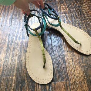 Snakeskin Pattern Sandals