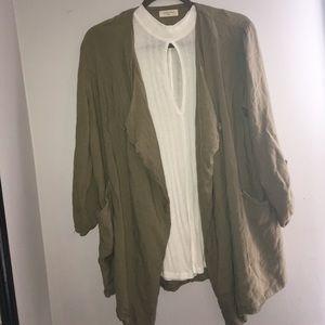 Green cardigan/duster jacket✨