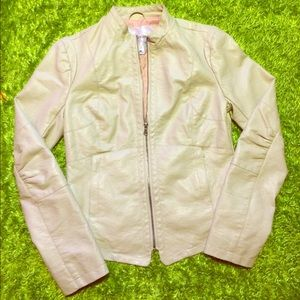 ‼️ON SALE‼️Maurice's Off White Leather Jacket