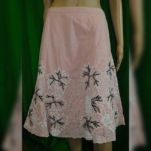 Persaman New York Dresses & Skirts - Persaman NewYork Stitch Embellished Peasant Skirt