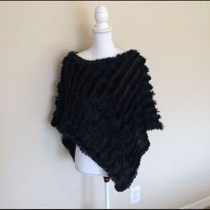 White House Black Market Tops - 100% Rabit Fur Shawl