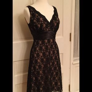 SLFashions black lace dress with sequins sz 4