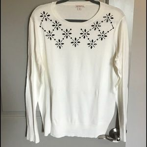 White Sparkle Sweater