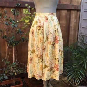 VINTAGE Floral Tea Length Circle Skirt