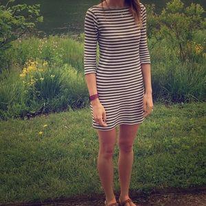 Soprano Dresses & Skirts - Green and white striped knit dress