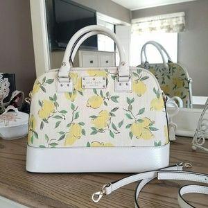 kate spade Handbags - Kate spade lemon print wellsley **make offer**