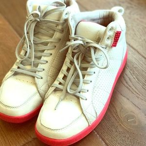 Clae Other - Retro Clae High Top White with Red sole - 8.5.