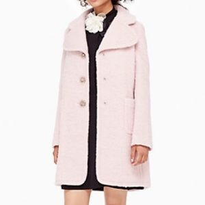 kate spade Jackets & Blazers - KATE SPADE NWT jewel button pink pea coat wool 00