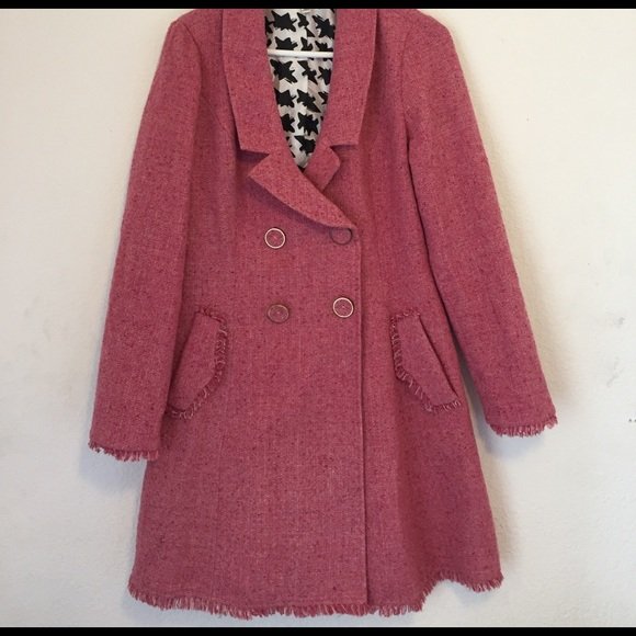 Cabi Jackets Amp Coats Luna Lovegood Pink Tweed Coat