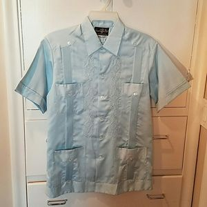 HP!!! Men's Guayaberah Linen/Silk Vintage Mexico