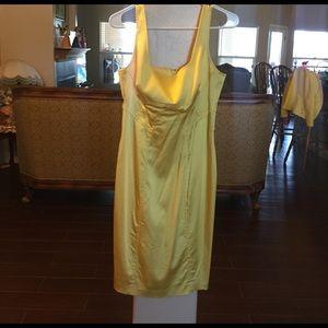 Yellow Calvin Klein dress size: 4