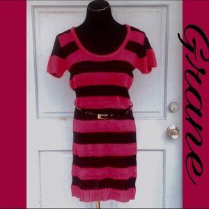 Grane Dresses & Skirts - 💗NWOT BEAUTIFUL LARGE STRIPED SWEATER DRESS💗