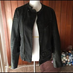 Zara Faux leather/Denim Jacket