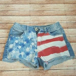 Justice Other - Justice American Flag Shorts Size 12 #justice
