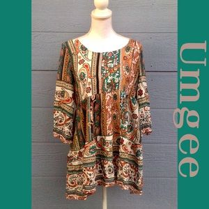 NWT BEAUTIFUL LARGE PRINTED DRESS BY UMGEE