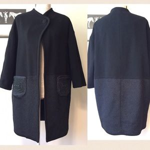 3.1 Phillip Lim Jackets & Blazers - Phillip Lim 3.1 Mixed Media wool coat deco pockets