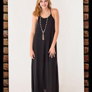 PEACH LOVE California Dresses & Skirts - Long Black Sleeveless Dress w/ slits up sides