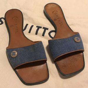 CHANEL Shoes - •$950 RETAIL AUTH SIGNATURE CHANEL DENIM SANDALS•