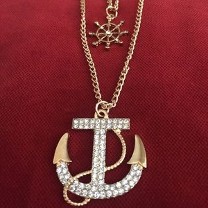 Gold Anchor Ocean Vibes Necklace