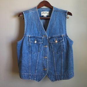 Eddie Bauer Jackets & Blazers - EUC Vintage Eddie Bauer Jean Denim Vest