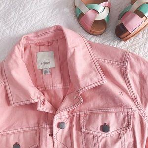 Sejour Jackets & Blazers - 🌷🌸Host Pick 🌸🌷Sejour Pink Twill Denim Jacket